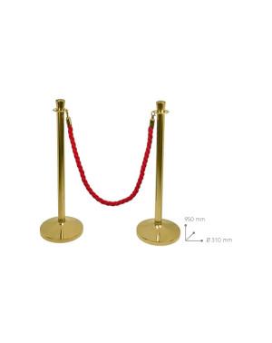 Colonna con cordone dorata